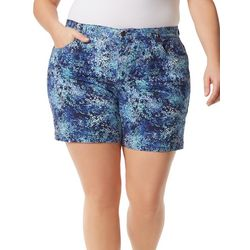 Gloria Vanderbilt Plus  Printed Bermunda Style Shorts