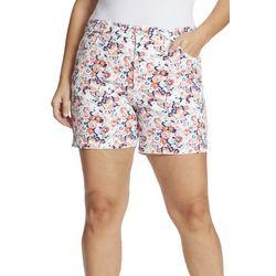 Gloria Vanderbilt Plus Amanda Floral Shorts