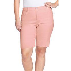 Gloria Vanderbilt Plus Solid Shorts