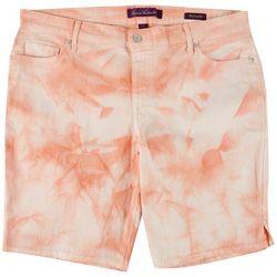 Gloria Vanderbilt Plus Tie-Dye Denim Bermuda Shorts