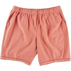 Plus Solid Pull On Shorts