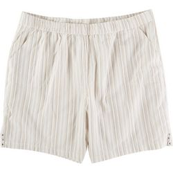 Emily Daniels Plus Striped Pull On Shorts