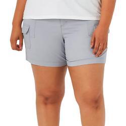 Plus Cargo Solid Color Shorts