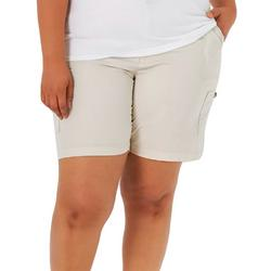 Plus Solid Colored Bermuda Shorts