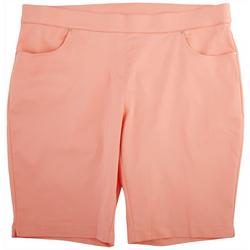 Plus Solid Long Shorts