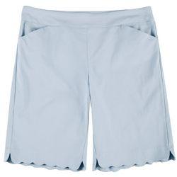 Coral Bay Plus Scalopped Bermuda Shorts