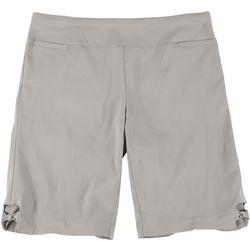 Coral Bay Plus Bow Hem Detail Bermuda Shorts