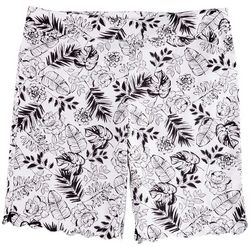 Coral Bay Plus Floral Scalloped Shorts