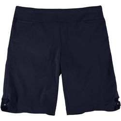 Coral Bay Plus Pull On Stretch Bow Hem Shorts