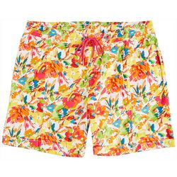 Fresh Plus Floral Printed Pull On Shorts