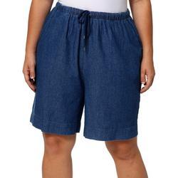 Plus The Everyday Twill Drawstring Shorts