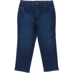 Gloria Vanderbilt Plus Amanda Tapered Leg Short Jeans