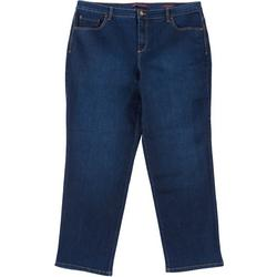 Plus Amanda Tapered Leg Short Jeans