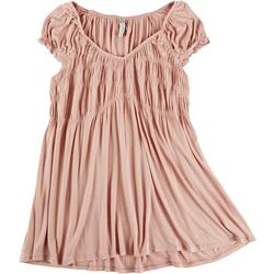 American Rag Plus Ruched Solid Blouse