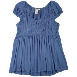 American Rag Plus Baby Doll Solid Short Sleeve