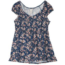 American Rag Plus Scrunched Bust Floral Top