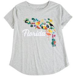Ana Cabana Plus Florida Print T-Shirt