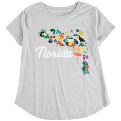 Plus Florida Print T-Shirt
