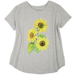 Ana Cabana Plus Heathered Sunflower Top