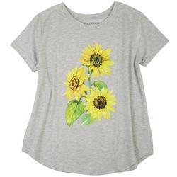 Plus Heathered Sunflower Top