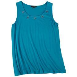 Plus Embellished Sleeveless Top