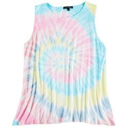 Plus Hippie Tie-Dye Sleeveless Top