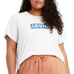 Plus Cropped Logo Print T-Shirt
