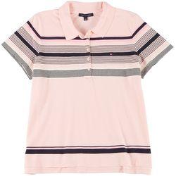 Tommy Hilfiger Plus Striped Polo Shirt