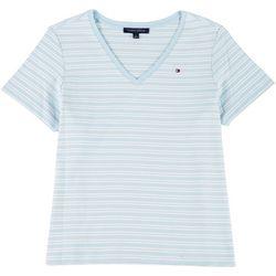 Tommy Hilfiger Plus Striped Logo Shirt
