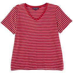 Tommy Hilfiger Plus Striped Short Sleeve Shirt
