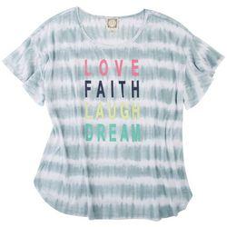 Tru Self Plus Love Faith Laugh Dream Short Sleeve Top