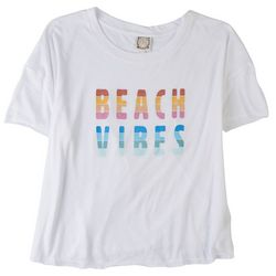 Tru Self Plus Beach Vibes Round Neck T-Shirt