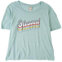 Plus Blessed Round Neck T-Shirt