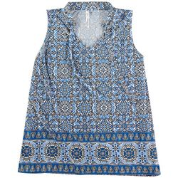 NY Collection Plus Printed Sleevless Top