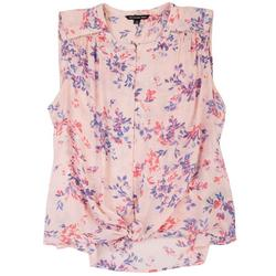 Plus Sweet Floral Sleeveless Top