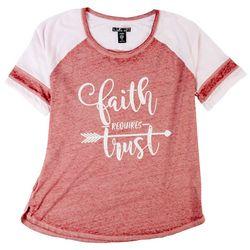 SABLE SKY Plus Faith Requires Trust T-Shirt
