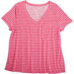 Plus Classic Stripe Front Pocket T-Shirt
