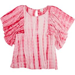 Ava James Plus Tie-Dye Loose Sleeve Top