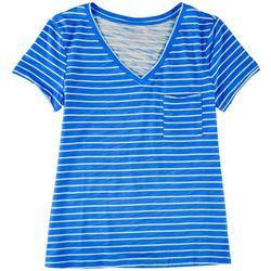 Plus Striped V-Neck T-Shirt