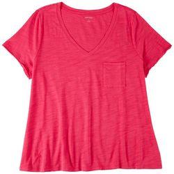 Dept 222 Plus Chest Pocket V-Neck T-Shirt