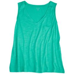 Plus Solid V-Neck Luxey Tank Top