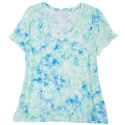 Dept 222 Plus Tie-Dye Floral T-Shirt