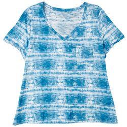 Dept 222 Plus Tie Dye Short Sleeve Top