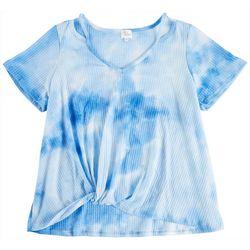 Ava James Plus Tye Dye Short Sleeve Front