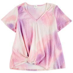 Ava James Plus Tye Dye Print Short Sleeve