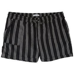Plus Linen Shorts