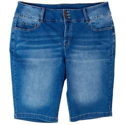 Plus Signature Slim Solid Bermuda Shorts
