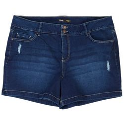 Royalty by YMI Plus Signature Slim Strech Denim Shorts