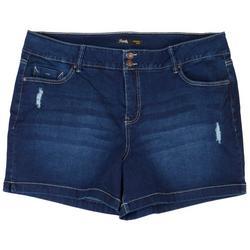 Plus Signature Slim Strech Denim Shorts