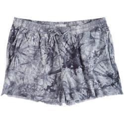 Plus Tye Dye Printed Shorts With Pockets